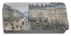 Place Du Theatre Francais    Paris  Rain Portable Battery Charger