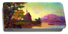 Beautiful Church, Place Of Welcome Portable Battery Charger by Jane Small