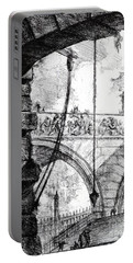Plate 4 From The Carceri Series Portable Battery Charger by Giovanni Battista Piranesi