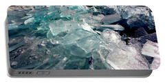 Plate Ice  Portable Battery Charger by Amanda Stadther