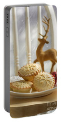 Plate Of Mince Pies Portable Battery Charger