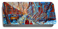 Plateau Montreal Street Scene Portable Battery Charger