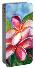 Playful Plumeria Portable Battery Charger