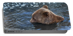 Playful Submerged Bear Portable Battery Charger