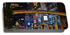Playhouse Square Portable Battery Charger by Frozen in Time Fine Art Photography