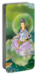Portable Battery Charger featuring the photograph Playing Avalokitesvara   by Lanjee Chee