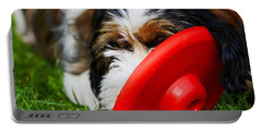 Playing Dog Portable Battery Charger