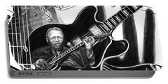 Playing With Lucille - Bb King Portable Battery Charger by Peter Piatt
