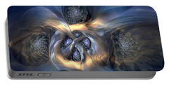 Portable Battery Charger featuring the digital art Pleasant Effusion by Casey Kotas