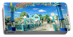 Pleasure Island Sign And Walkway Downtown Disney Portable Battery Charger