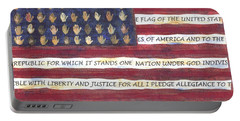 Pledge Flag Portable Battery Charger
