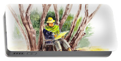 Plein Air Artist At Work Portable Battery Charger