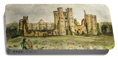 Plein Air Painting At Cowdray House Sussex Portable Battery Charger