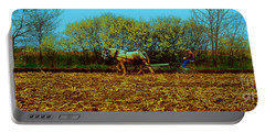 Portable Battery Charger featuring the photograph Plow Days Freeport  Tom Jelen by Tom Jelen