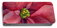Plum Poinsettia Portable Battery Charger