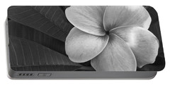Plumeria With Raindrops Portable Battery Charger