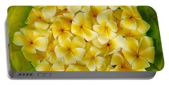 Plumerias In Bowl Portable Battery Charger