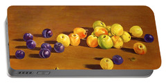 Plums And Apples Still Life Portable Battery Charger