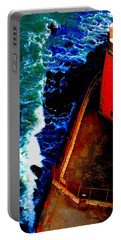 Plunging From Golden Gate Portable Battery Charger by Holly Blunkall