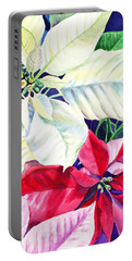 Poinsettia Christmas Collection Portable Battery Charger