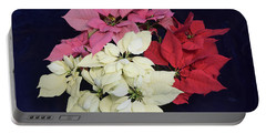 Poinsettia Tricolor Portable Battery Charger