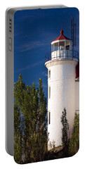 Point Betsie Lighthouse Michigan Portable Battery Charger by Adam Romanowicz