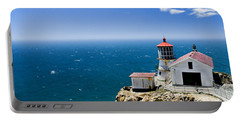 Point Reyes Lighthouse California Portable Battery Charger by Yulia Kazansky