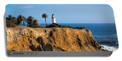 Point Vicente Lighthouse Portable Battery Charger by Eleanor Abramson