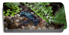 Poison Dart Frog Portable Battery Charger by Carol Ailles