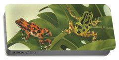 Green Tree Frogs Paintings Portable Battery Chargers