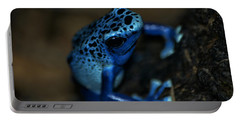 Poisonous Blue Frog 02 Portable Battery Charger by Thomas Woolworth