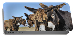 Portable Battery Charger featuring the photograph Poitou Donkey 3 by Arterra Picture Library