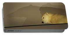 Polar Bear Shadows Portable Battery Charger