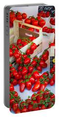 Pomodori Italiani Portable Battery Charger by Inge Johnsson