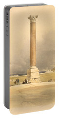 Pompeys Pillar, Alexandria, From Egypt Portable Battery Charger