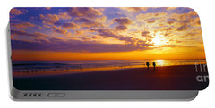 Ponce Inlet Fl Sunrise  Portable Battery Charger by Tom Jelen