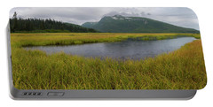 Pond In Middle Of Sedge Meadow Portable Battery Charger