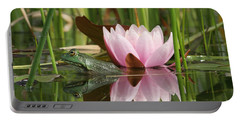 Pond Reflections Portable Battery Charger by Judy Whitton
