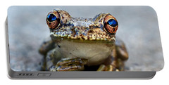 Pondering Frog Portable Battery Charger by Laura Fasulo