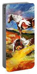 Ponies At Sunset Portable Battery Charger