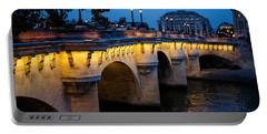 Pont Neuf Bridge - Paris France Portable Battery Charger