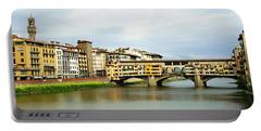 Ponte Vecchio 1 Portable Battery Charger by Ellen Henneke