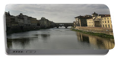 Ponte Vecchio Portable Battery Charger by Belinda Greb