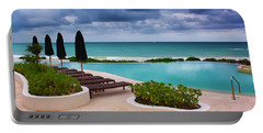 Portable Battery Charger featuring the photograph Pool At Rosewood Mayakoba by Teresa Zieba