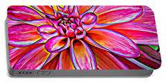 Pop Art Dahlia Portable Battery Charger