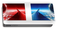 Portable Battery Charger featuring the photograph Red Blue Jet Pop Art Planes  by R Muirhead Art