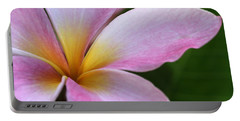 Pop Of Pink Plumeria Portable Battery Charger