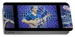 Portable Battery Charger featuring the drawing Pop-op Full Band by Joshua Morton