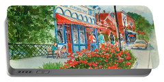 Popcorn Shop In Summer/chagrin Falls Portable Battery Charger