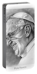 Pope Francis Portable Battery Charger by Greg Joens